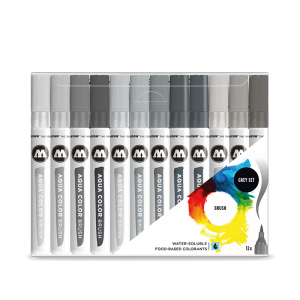 Aqua Color Brush Grey Set molotow